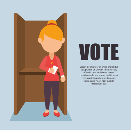 Illustration pour cartoon elections vote design vector illustration. - image libre de droit