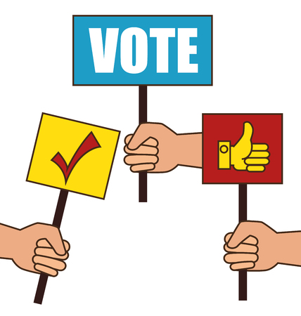 Illustration pour cartoon elections vote design vector illustration eps 10 - image libre de droit