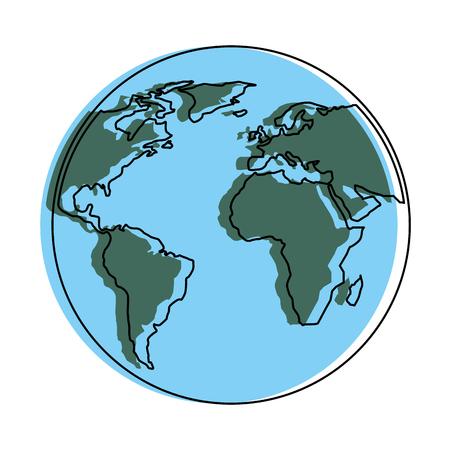 Illustration pour globe world planet map earth image vector illustration - image libre de droit