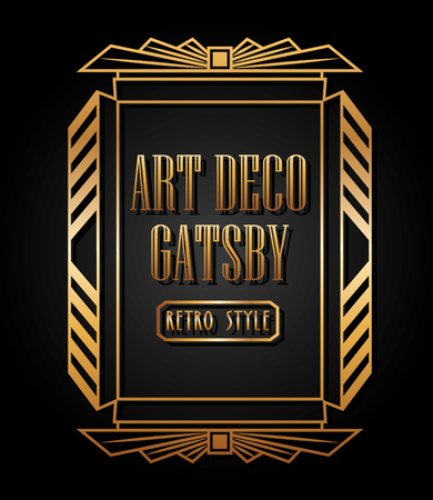 Ilustración de art deco element design, vector illustration eps10 graphic  - Imagen libre de derechos