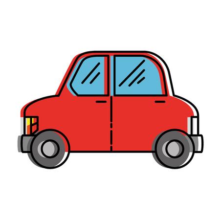 Ilustración de eco car vehicle transport icon vector illustration design - Imagen libre de derechos