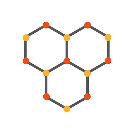 Illustration pour structure molecular isolated icon vector illustration design - image libre de droit