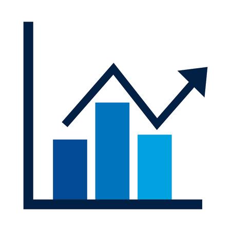 Ilustración de business financial bar graph chart diagram growth profit vector illustration - Imagen libre de derechos