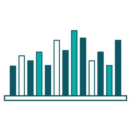 Ilustración de statistics business bar graph diagram image vector illustration green design - Imagen libre de derechos