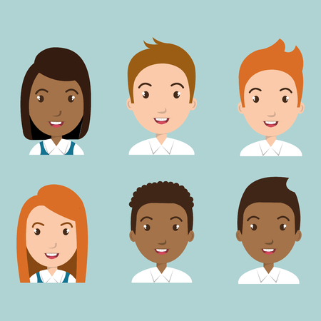Illustration for Group of students characters vector illustration design - Royalty Free Image