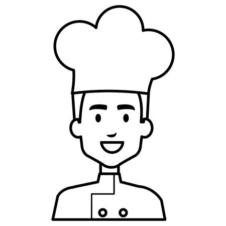 Ilustración de restaurant chef avatar character vector illustration design - Imagen libre de derechos