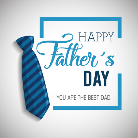 Illustration pour happy fathers day card with calligraphy and accessory vector illustration design - image libre de droit