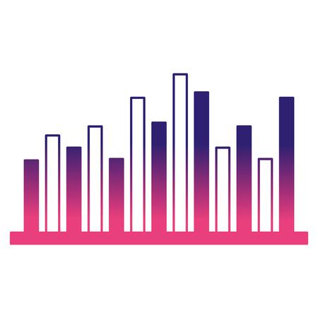 Ilustración de statistics infographic with bars vector illustration design - Imagen libre de derechos