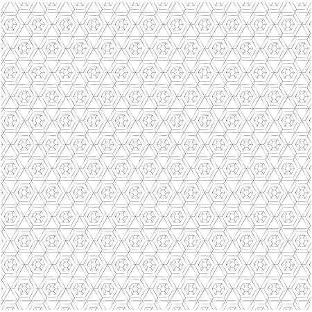 Illustration pour Geometric figures monochrome pattern vector illustration design. - image libre de droit