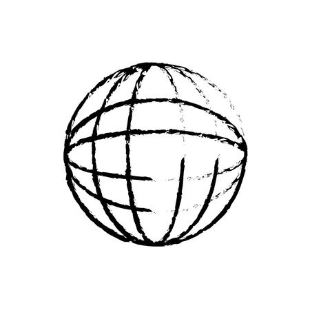 Illustration pour planet world connection network image vector illustration sketch design - image libre de droit