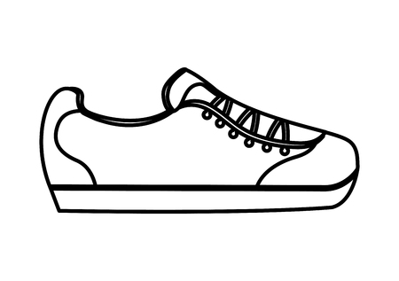 Illustration pour cartoon sneaker sport fashion image vector illustration thin line - image libre de droit
