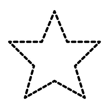 Illustration pour Star winner prize award business image vector illustration dotted line. - image libre de droit
