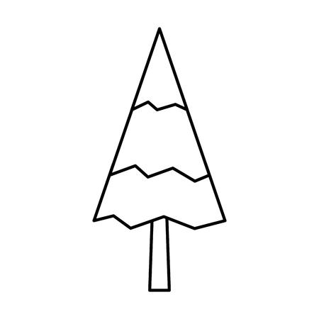 Illustration for Pine tree natural forest concept vector illustration outline. - Royalty Free Image