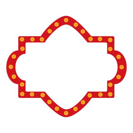 Ilustración de A circus label lights icon design. - Imagen libre de derechos