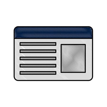 Ilustración de ID card isolated icon vector illustration design - Imagen libre de derechos