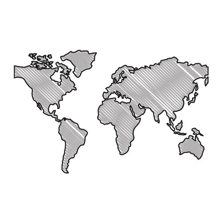 Illustration pour world maps silhouette icon vector illustration design - image libre de droit