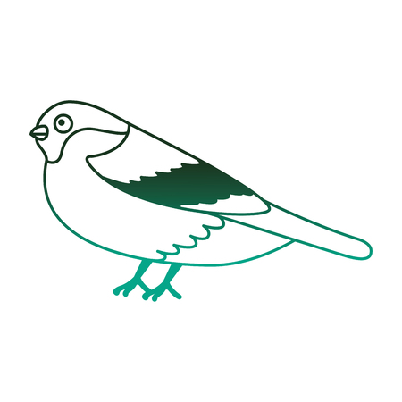 Illustration pour bird animal feathers wildlife image vector illustration degraded color green - image libre de droit