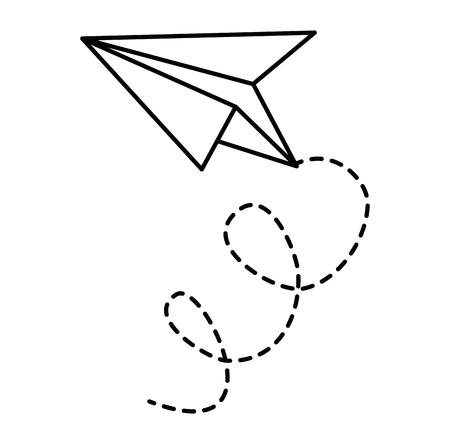Ilustración de Paper airplane flying icon vector illustration design - Imagen libre de derechos