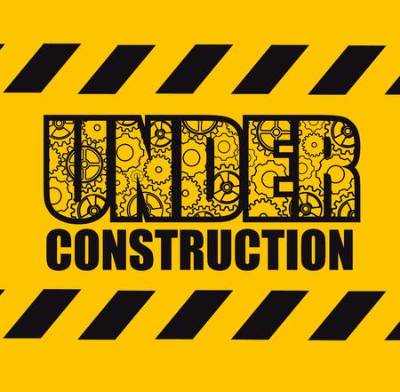 Ilustración de Under construction design - Imagen libre de derechos