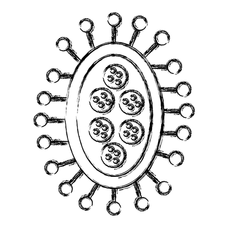Illustrazione per unicellular bacteria laboratory icon vector illustration design - Immagini Royalty Free