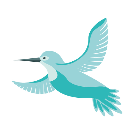 Illustration pour cute bird flying with beautiful plumage vector illustration design - image libre de droit