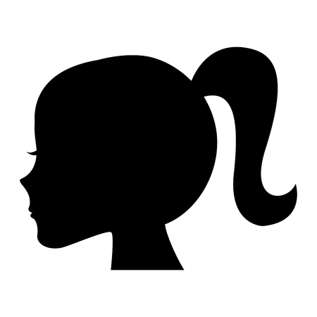 Ilustración de Female head profile silhouette vector illustration design - Imagen libre de derechos