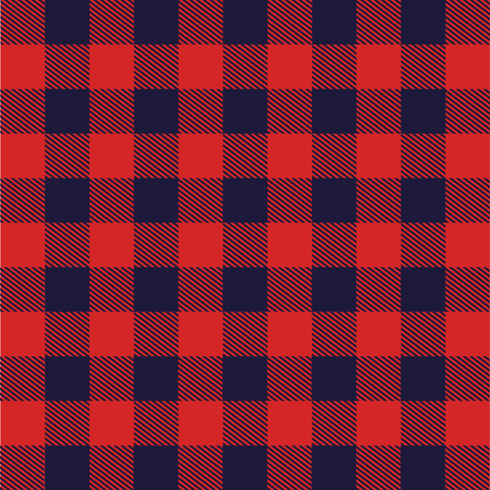 Illustration for fabric with Scottish grid vector illustration design - Royalty Free Image