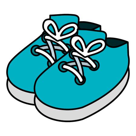 Ilustración de baby shoes isolated icon vector illustration design - Imagen libre de derechos