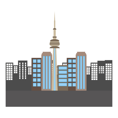 Illustration pour toronto canada city scene vector illustration design - image libre de droit