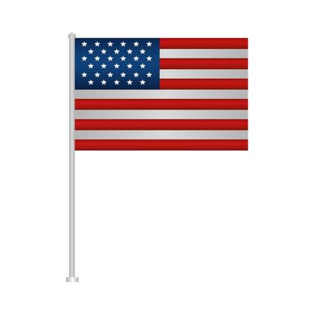 Illustration pour united states of america flag in pole vector illustration design - image libre de droit