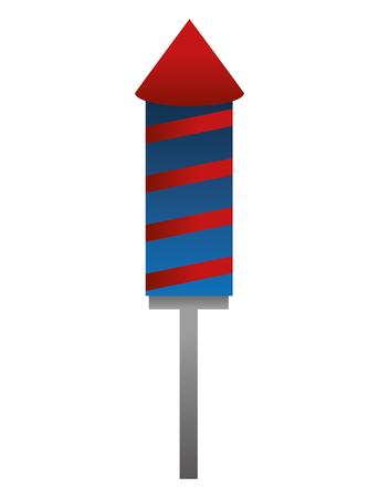 Illustration for fireworks rocket celebration icon vector illustration design - Royalty Free Image
