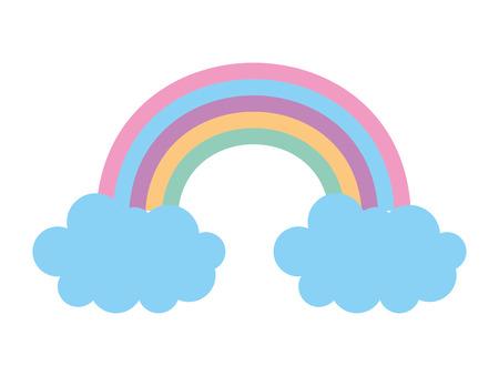 Ilustración de rainbow with clouds icon vector illustration design - Imagen libre de derechos