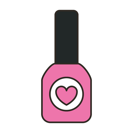 Ilustración de nail polish female make up vector illustration design - Imagen libre de derechos