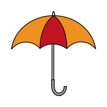 Ilustración de open umbrella weather protection icon vector illustration - Imagen libre de derechos