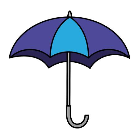 Ilustración de Open umbrella weather protection icon vector illustration. - Imagen libre de derechos