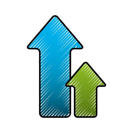Ilustración de green and blue arrow upload direction vector illustration - Imagen libre de derechos