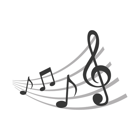 Ilustración de set of music notes pattern vector illustration design - Imagen libre de derechos
