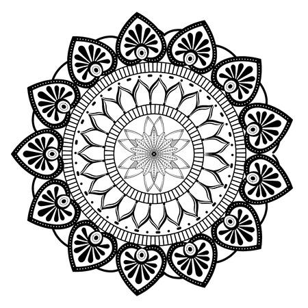 Illustration pour monochrome and circular mandala vector illustration design - image libre de droit