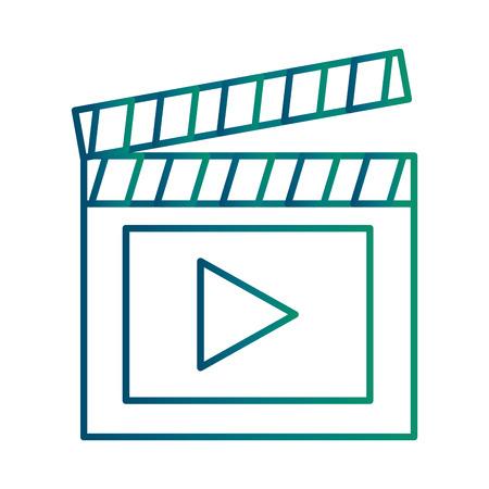 Illustration for Clapperboard with media player symbol illustration design - Royalty Free Image