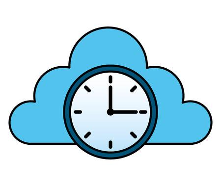Ilustración de cloud storage clock time work image cloud storage clock time work image - Imagen libre de derechos