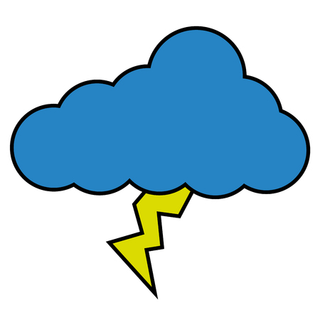 Illustration for cloud lightning climate icon image vector illustration - Royalty Free Image