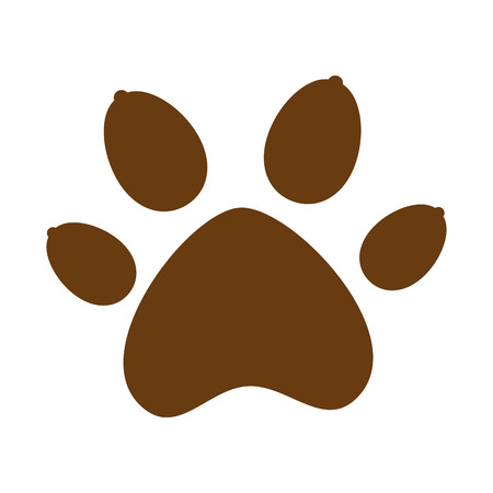 Ilustración de paw mascot isolated icon vector illustration design - Imagen libre de derechos
