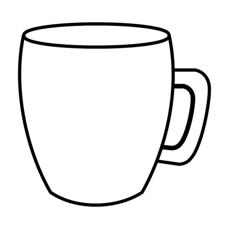 Ilustración de coffee mug handle ceramic icon image vector illustration outline - Imagen libre de derechos