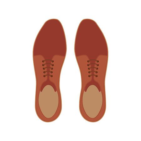 Ilustración de elegant shoes masculine icon vector illustration design - Imagen libre de derechos