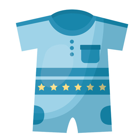 Illustration pour boy shirts and pants clothes baby vector illustration design - image libre de droit