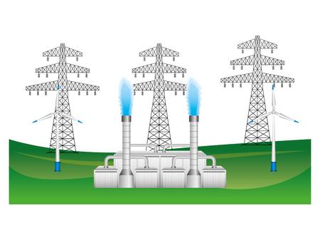 Illustration pour Electric towers icon illustration design - image libre de droit