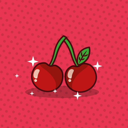 Illustration for Cherries vector illustration - Royalty Free Image