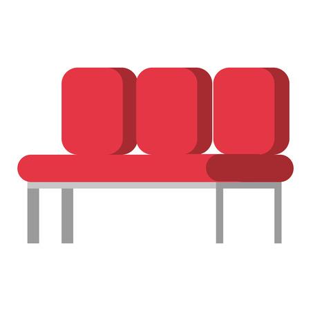 Ilustración de waiting room chairs icon vector illustration design - Imagen libre de derechos