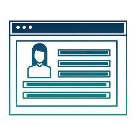 Illustration pour website social media profile people community vector illustration  degraded color - image libre de droit