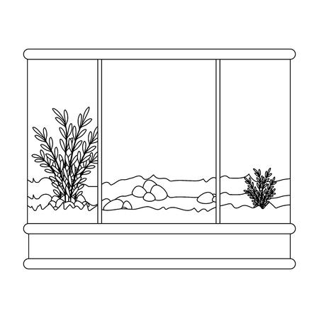 Ilustración de square aquarium without fish icon vector illustration design - Imagen libre de derechos